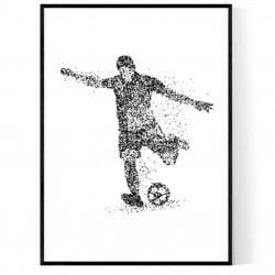 Fotboll Utespelare Poster