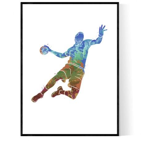 Abstrakt Handbollsspelare