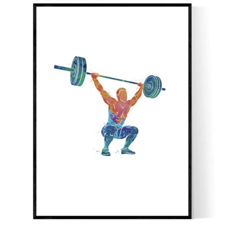 Abstrakt Strongman Poster