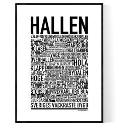 Hallen Poster