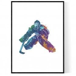Abstrakt Hockeymålvakt