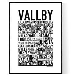 Vallby Poster