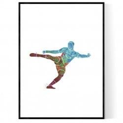 Abstrakt Fotbollsspelare