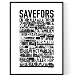 Savefors Poster