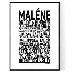 Maléne Poster