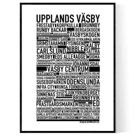 Upplands Väsby Poster