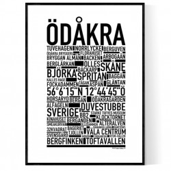 Ödåkra Poster