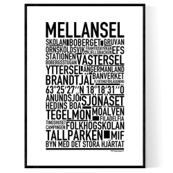 Mellansel Poster