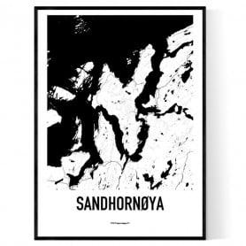 Sandhornøya Karta
