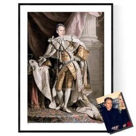 Kungligt Porträtt Med Ditt Foto