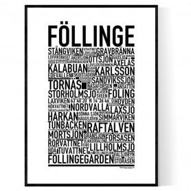 Föllinge Poster