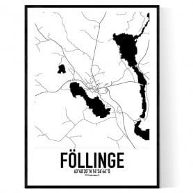 Föllinge Karta