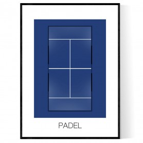 Padel Court Poster