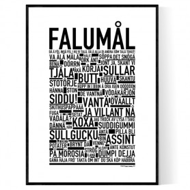 Falumål Dialekt Poster