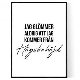 Från Högsbohöjd Poster