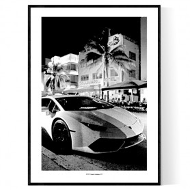 Miami Lambo Poster