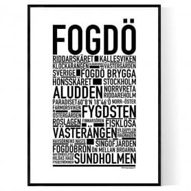 Fogdö Poster