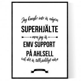 EMV support på Ahlsell Hjälte Poster