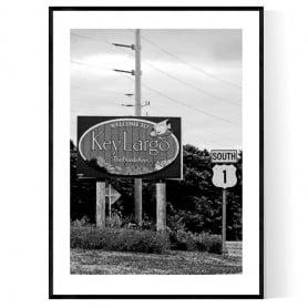 Key Largo Sign Poster