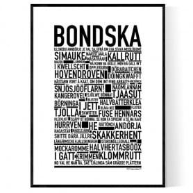 Bondska Poster