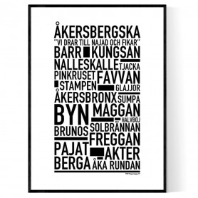 Åkersbergska Poster