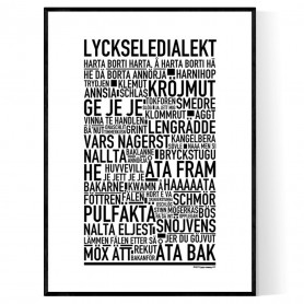 Lyckseledialekt Poster