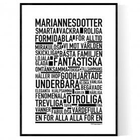 Mariannesdotter Poster