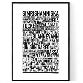 Simrishamniska Poster
