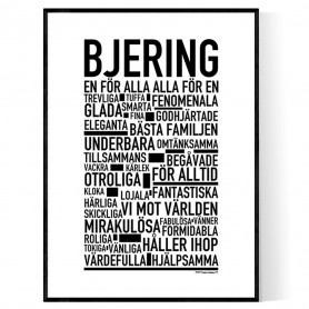 Bjering Poster