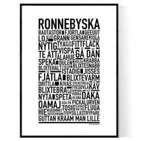 Ronnebyska Poster