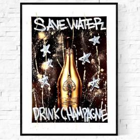 DRINK CHAMPAGNE ORIGINALVERK 1/1