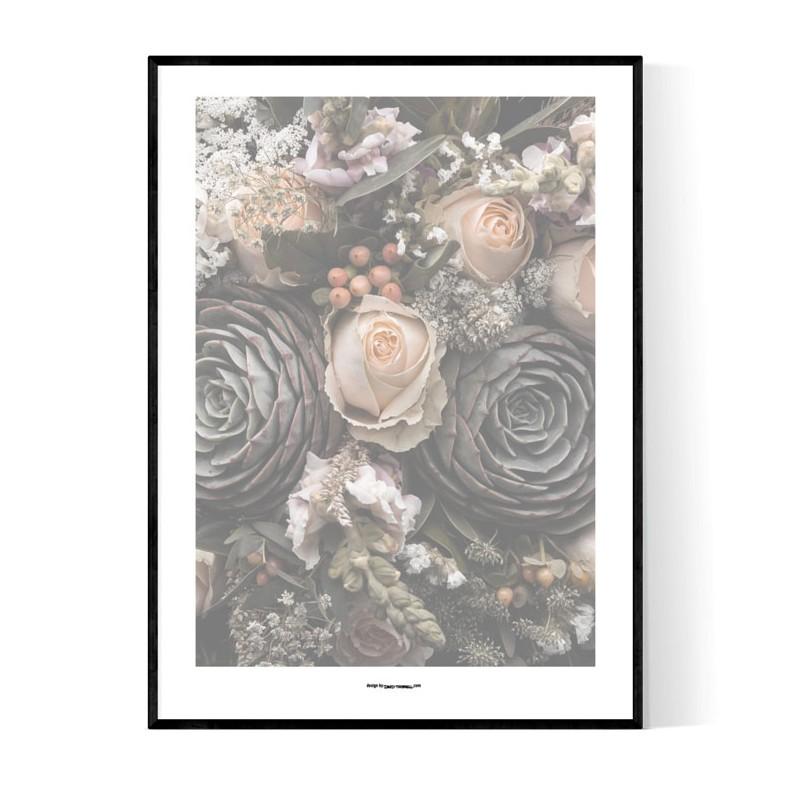 Magic Flowers Grey