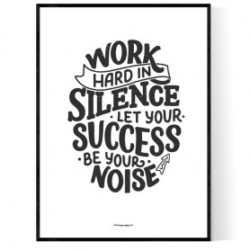 Work In Silence Poster