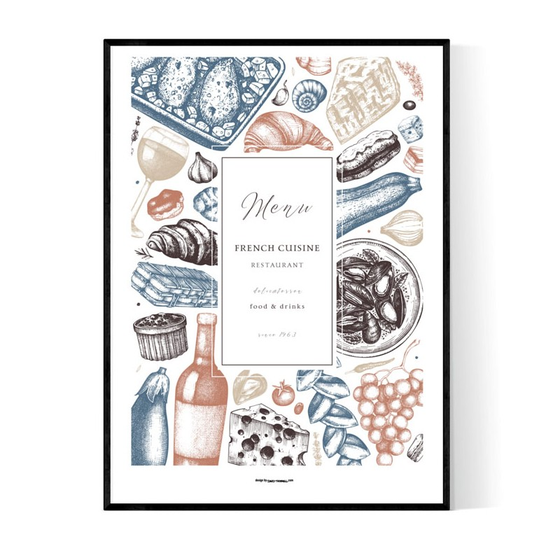 French Cuisine Poster