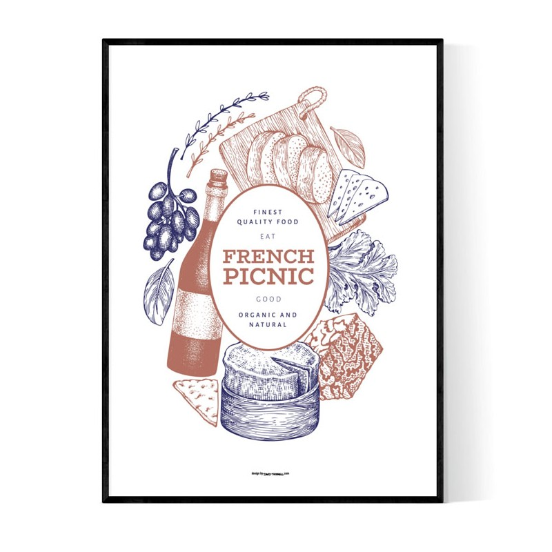 French Picnic Poster