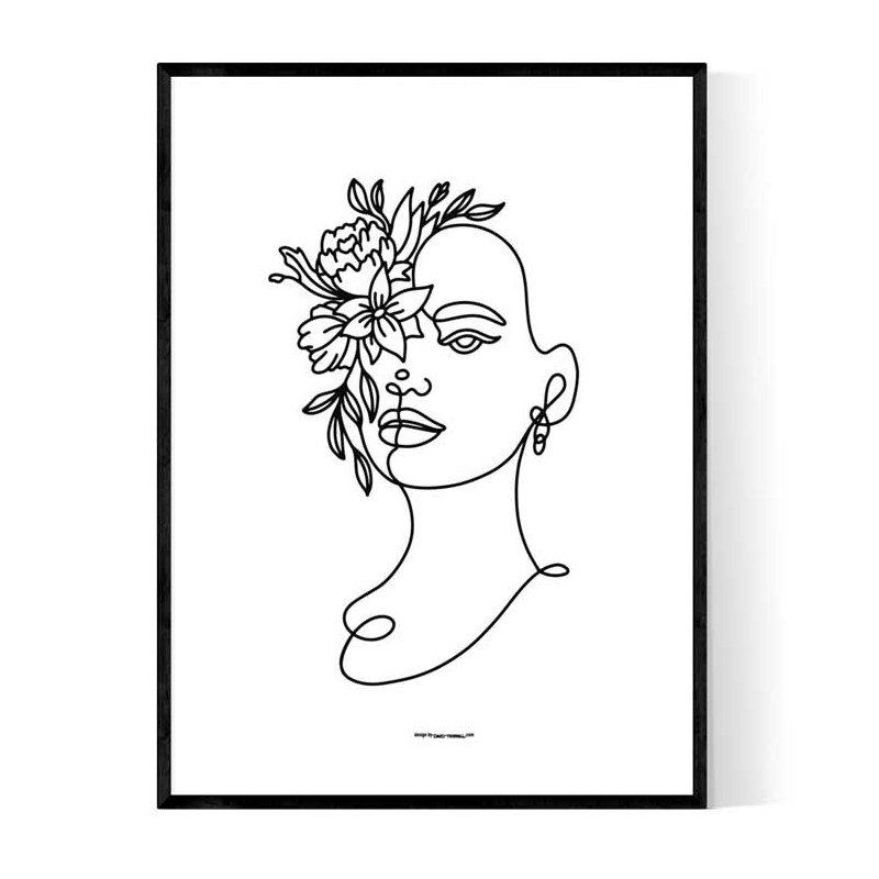 Lady Of Flower Poster