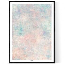 Concrete Pastel Pink Poster