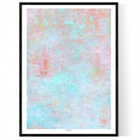Concrete Pastel Colorful Poster