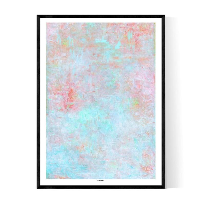 Concrete Pastel Colorful Poster