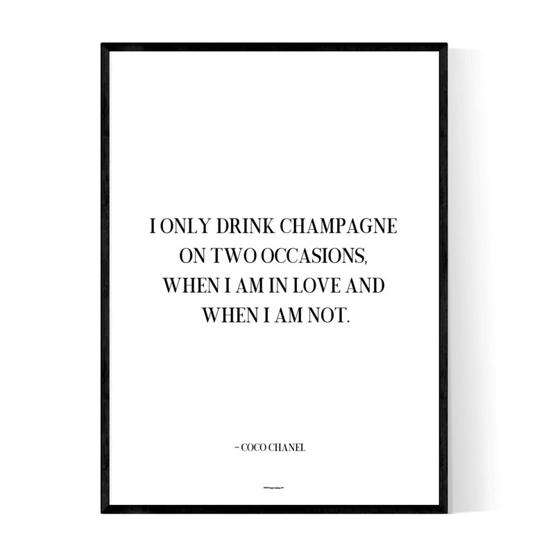 Champagne Love Poster
