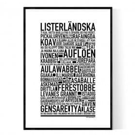 Listerländska Poster