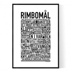 Rimbomål Poster