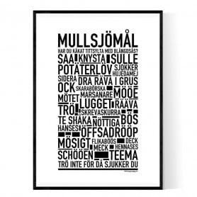 Mullsjömål Poster
