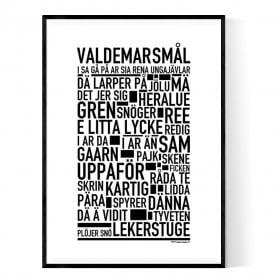 Valdemarsmål Poster