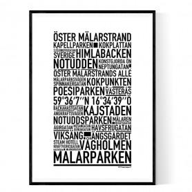 Öster Mälarstrand Poster
