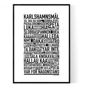 Karlshamnsmål Poster