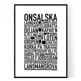 Onsalska Poster