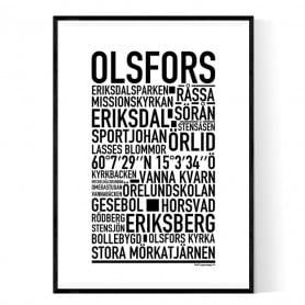 Olsfors Poster
