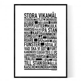 Stora Vikamål Poster