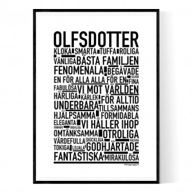 Olfsdotter Poster